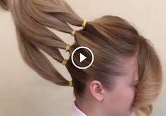 Separó su cabello en 5 secciones para crear algo realmente hermoso!