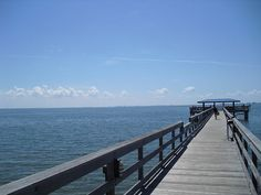 Safety Harbor Pier. Tampa is visible across the Bay.