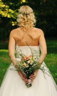 Wedding hairstyles - waterfall braid with flowers :)