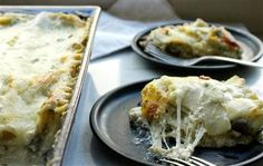 Make a decadent wild mushroom lasagna loaded with four ooey-gooey cheeses