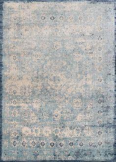 Anastasia Light Blue / Ivory Area Rug