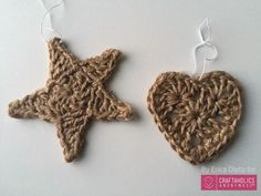 I can make these... Craftaholics Anonymous® | Crocheted Jute Christmas Ornaments