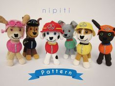 free paw patrol crochet pattern - Google Search