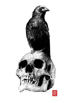 Smoky parts fade into each other from half skull and smoky crow