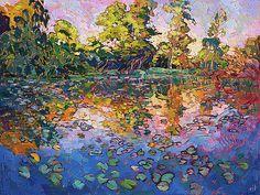 Water Lilies by Erin Hanson