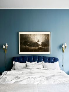 The Scandinavian Bohemian-Chic Home of Interior Designer Amelia Widell - Nordic Design Elle Decor, Bedroom Colors, Bedroom Decor, Bedroom Bed, Bedroom Inspo, Bed Room, Bedroom Ideas, Master Bedroom, Sofas Vintage