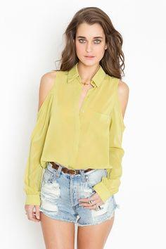 neon lemon lime fantastic shirt. high waited shorts. Great belt. Love! Xo