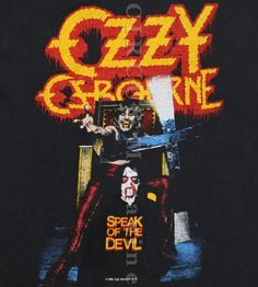 Ozzy Osbourne - Speak Of The Devil  tour shirt / cover with setlist / pro-filmed concert http://1.bp.blogspot.com/-YUMv5ue8tlc/TdFF7nYrK7I/AAAAAAAAK5s/LUwJzCHU8Eg/s1600/1588%2B%2Bozzy-osbourne-speak-of-the-devil-dvd-w-extra-dvd-e9526.jpg  *************************** PRO-FILMED 6/27/82 - 78 min. / 480p http://my.mail.ru/mail/ustyuhin51/video/1246/27927.html *************************** #OzzyOsbourne  with #RudySarzo​