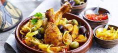 Kοτόπουλο με λεμόνι και ελιές