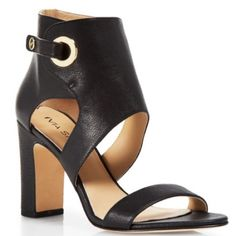 """NET VIA SPIGA HEELS Brand new in box VIA SPIGA - ADRA heels Calf leather upper, leather lining, leather and rubber sole Imported Open toe; adjustable buckled ankle strap; functional back zip 3.5"""" heel Via Spiga Shoes Heels"""