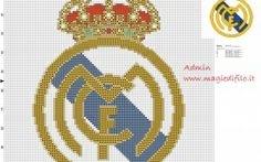 logo real madrid cross stitch pattern