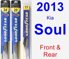 Front & Rear Wiper Blade Pack for 2013 Kia Soul - Hybrid