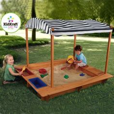 It is time to play outside. The kids will have fun with this KidKraft Outdoor Sandbox. #outdoorfun #summerfun