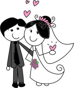 Novios by Luddmii on DeviantArt Wedding Signs, Wedding Cards, Wedding Stamps, Wedding Clip, Faire Part Invitation, Anime Muslim, Wedding Illustration, Stick Figures, Printable Designs