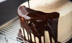 Dark Chocolate Mirror Glaze Recipe from Joshua John Russell Dark Chocolate Mirror Glaze Recipe, Chocolate Glaze Recipes, Homemade Chocolate, Chocolate Desserts, White Chocolate, Chocolate Cake, Mini Desserts, Glaze For Cake, Mirror Glaze Cake