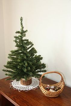 Practical Life Skills / Holiday - decorate mini tree with mini ornaments. Keep the tree in a special place where kids can redecorate and admire it as their own handiwork.