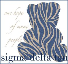 """the open motto of Sigma Delta Tau is, """"one hope of many people."""""""