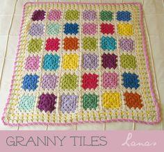 Lanas Hilos: BLANKET: Granny Tiles