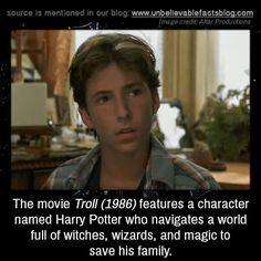 The movie Troll features a character named Harry Potter who navigates a world full of witches, wizards, and magic to save his family. Fun Facts Scary, Wow Facts, True Facts, Weird Facts, Puns Jokes, Funny Puns, Harry Potter Writer, Unbelievable Facts, Amazing Facts