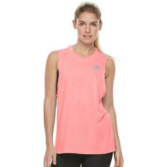 Women's Nike Dry Solid Muscle Running Tank ($22) ❤ liked on Polyvore featuring activewear, activewear tops, drk orange, nike sportswear, nike activewear and nike