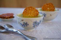 Parmesan Crisps In A Creamy Zucchini Soup - Presley's Pantry