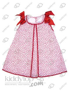 Simple red dress for baby girl