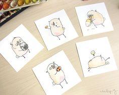 Foodie Pugs Prints!
