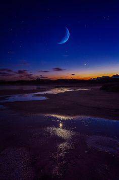 #ZBohom - Moonlight, Sardinia, Italy, by Fabrizio Lutzoni.