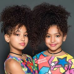 Comment twins in your language. Cute Twins, Cute Babies, Beautiful Children, Beautiful Babies, Curly Hair Styles, Natural Hair Styles, Mixed Babies, Twin Girls, Black Kids
