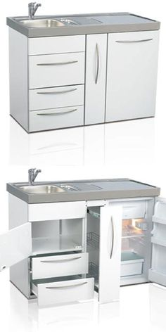 1200mm rangeElfin Kitchens' range of compact kitchens are perfect where space and budget are at a premium but full kitchen facilities with a strong durable finish are required - making these mini kitchens ideal as office kitchens and retail workspace kitchens (tea point) and perfect for landlords offering student or rented accommodation needing bedsit and space saving kitchens.
