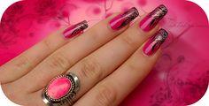 model unghii roz cu gel