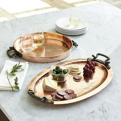 Looking for serving trays and stylish entertaining serveware? Find the perfect serving trays, wooden serving trays and decorative coasters to serve your guests in style at Ballard Designs! Coffee Table Tray, House On A Hill, Ballard Designs, Decorative Objects, Kitchen Accessories, Bristol, Serving Trays, Kitchen Decor, Copper