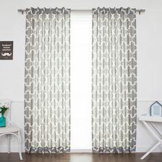 Quatrefoil Sheer Rod Pocket Curtain Panel
