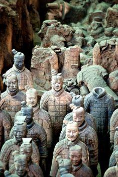"Terra Cota Warriors - Xi'an, China • ""terracotta warriors"" by Jessica Lin on http://500px.com/photo/10205897"