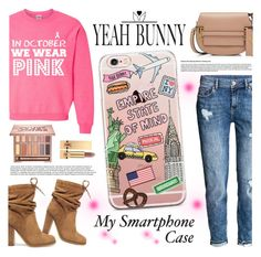 """YEAH BUNNY"" by gaby-mil ❤ liked on Polyvore featuring H&M, Valentino, See by Chloé, Urban Decay, Yves Saint Laurent, iphone and case"