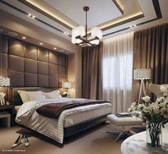 Lighting and ceiling ideas. Color Bedroom Ideas - All the bedroom design ideas you'll ever before need. Find your design and also produce your dream bedroom scheme regardless of what your budget, design or room dimension. Modern Luxury Bedroom, Luxury Bedroom Design, Master Bedroom Interior, Master Bedroom Design, Luxury Home Decor, Luxurious Bedrooms, Home Interior, Luxury Interior, Dream Bedroom