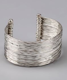 Take a look at this Silver Hammered Cuff Bracelet on zulily today! Metal Jewelry, Jewelry Art, Silver Jewelry, Jewelry Design, Jewelry Ideas, Jewelry Trends, Silver Cuff, Silver Bracelets, Jewelry Bracelets