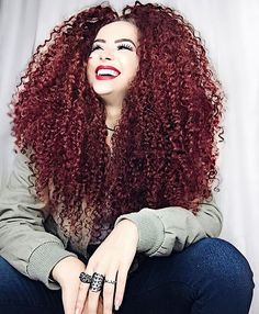 Loving the big red curls! Curly Hair Styles, Natural Hair Styles, Red Curls, Wavy Hair, Naturally Curly, Cool Hairstyles, Health And Beauty, Hair Makeup, Hair Beauty