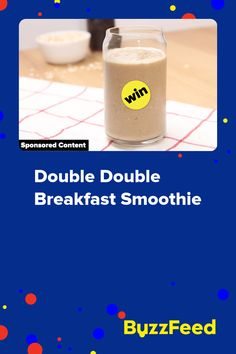 Double Double Breakfast Smoothie Canadian Food, Medjool Dates, Healthy Meal Prep, Healthy Food, Healthy Recipes, Cold Brew, Us Foods, Smoothie, Brewing