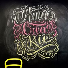 Chalk lettering by @magicmaia                                                                                                                                                     Más