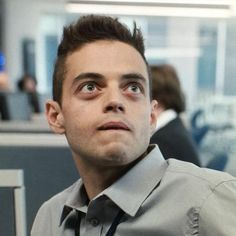 """Just a tech."" --  that irresistable lip bite ;P #MrRobot #ElliotAlderson #RamiMalek #FSociety #JustATech #Irresistable #Hot"