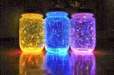"""""""Come trasformare i Barattoli di Vetro in Lampade Fluorescenti"""""""
