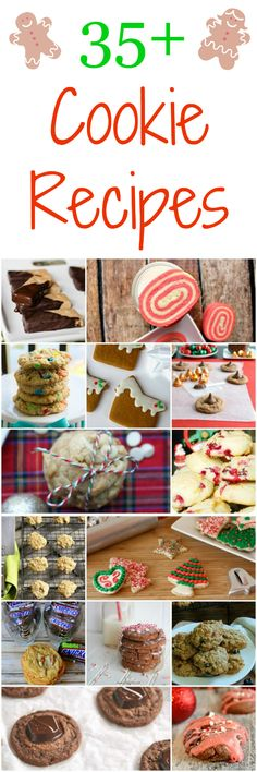 35 Holiday Cookie Recipes - Great for teacher gifts, cookie exchanges and baking at home with your family!