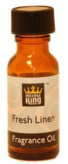 Fresh Linen Scented Oil From Incense King - 1/2 Ounce Bottle by Incense King Scented Oil. $2.95. 15ml bottle of high quality, but affordable, scented oil, which is approximately 1/2 ounce. A fragrance of freshly cleaned linen drying in a summer breeze.This fragrance oil is for use in oil diffusers, to refresh potpourri, or to sprinkle on incense charcoal. It is not to be used on the skin or consumed. Incense King oil is made using fine quality aromatic oils that result in str...