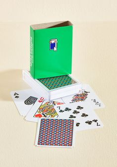 You have your choice of playing a game solo or with a crowd of pals as you deal out this deck of cards! Adorned with Susan Kare's retro-tech artwork of the graphics from the 90's solitaire computer game, these cards offer a multitude of options for tabletop entertainment.