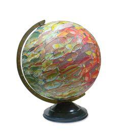School of Fish Vintage Globe Art by wendygold on Etsy