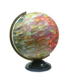 Hey, I found this really awesome Etsy listing at https://www.etsy.com/listing/216700038/school-of-fish-vintage-globe-art