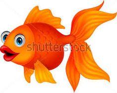 Cute Golden Fish Cartoon Vector Image On VectorStock
