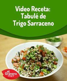 Video receta: tabulé de trigo sarraceno. Potato Salad, Healthy Recipes, Healthy Food, Cereal, Veggies, Gluten, Meals, Cooking, Ethnic Recipes