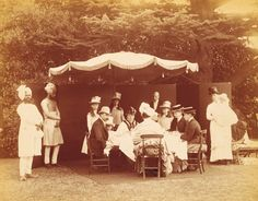 A royal breakfast party with Queen Victoria of the United Kingdom and extended family,at Osborne House, Isle of Wight in May 1887.A♥W